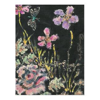 Cartes florales abstraites d'art