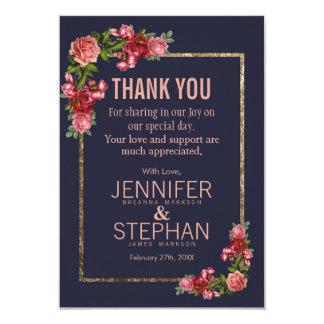 Cartes florales de Merci d'or de rose de bleu