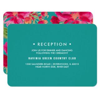 Cartes florales de réception de mariage de