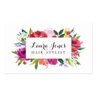 Cartes florales de rendez-vous de coiffeur carte de visite standard