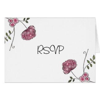 Cartes florales de RSVP