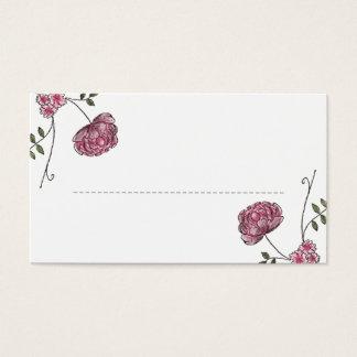 Cartes florales d'endroit de table de mariage
