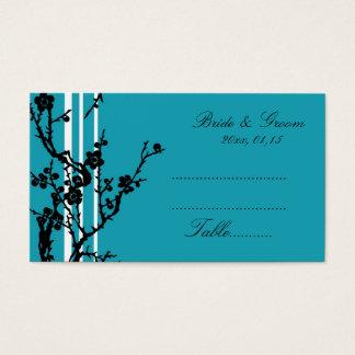 Cartes florales noires de couvert de mariage de