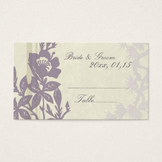 Cartes florales pourpres de couvert de mariage