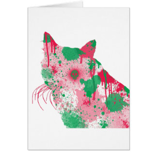 Cartes folles de chat - merlot de fillette