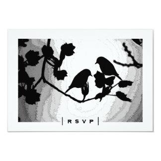 Cartes gothiques des silhouettes RSVP