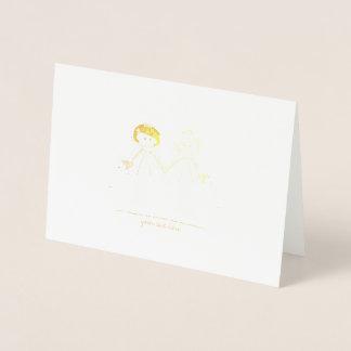 Cartes gravées à l'eau-forte de jeune mariée de