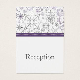 cartes grises pourpres de réception d'hiver de mod