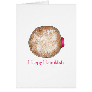 Cartes heureuses de beignet de gelée de Hanoukka