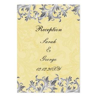 """"""" cartes jaunes """"grises de réception de mariage cartes de visite personnelles"""