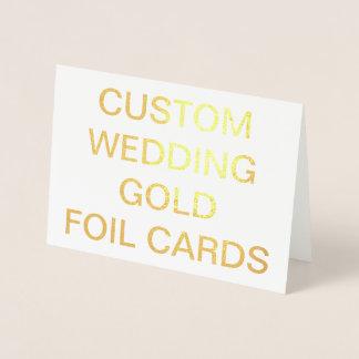 Cartes les épousant faites sur commande de feuille