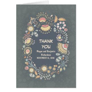 Cartes lunatiques rustiques de Merci de guirlande