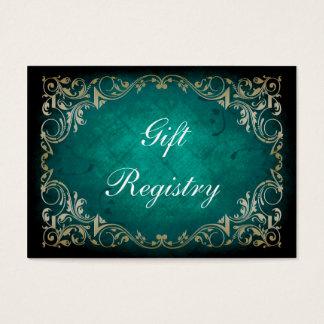 cartes majestueuses de liste de cadeaux d'aqua