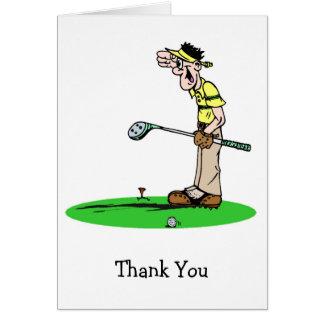 Cartes maladroites de Merci de golfeur
