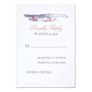 Cartes molles du mariage de plage de couleurs carton d'invitation 8,89 cm x 12,70 cm