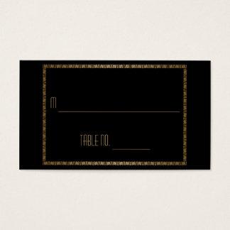 Cartes noires d'endroit de mariage de paon d'art