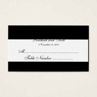 Cartes noires et blanches d'allocation des places carte de visite standard