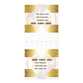 Cartes nominatives personnalisées de couvert d'or