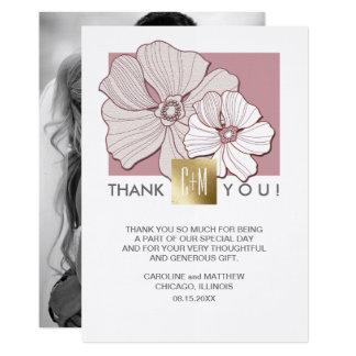 Cartes photos de coutume de Merci de mariage de Carton D'invitation 12,7 Cm X 17,78 Cm