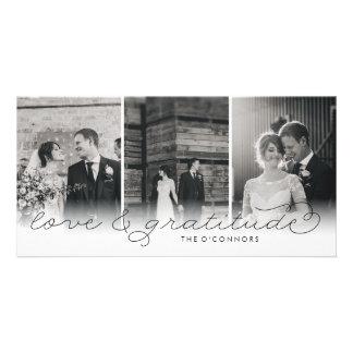 Cartes photos de Merci de mariage d'amour et de