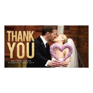 Cartes photos de recouvrement de Merci de scintill Cartes De Vœux Avec Photo