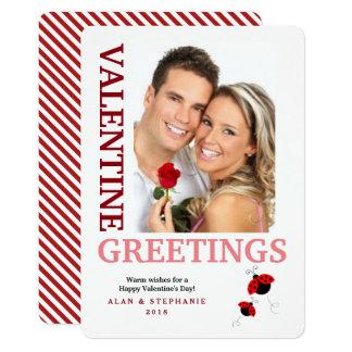 Cartes photos de salutations de Valentine