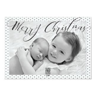 Cartes photos noirs et blancs de coeur de Joyeux