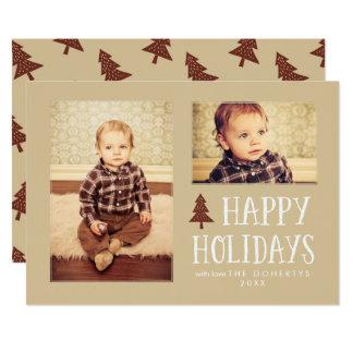 Cartes plates de photo de Noël de neutre bonnes