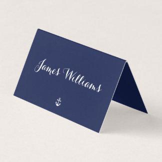 Cartes pliées nautiques de couvert de bleu marine