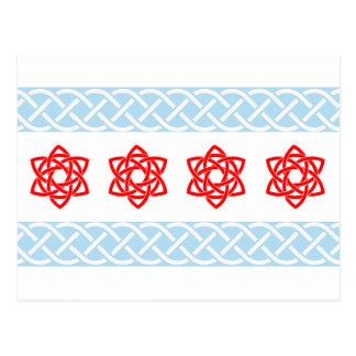 Cartes postales de drapeau de Chicago de Celtic