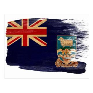 Cartes postales de drapeau des Îles Falkland