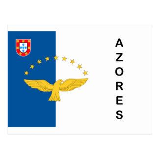 Cartes postales de drapeau du Portugal d'îles des