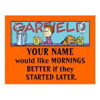 Cartes postales de matins de Garfield Logobox