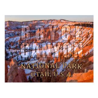 Cartes postales de parc national de canyon de