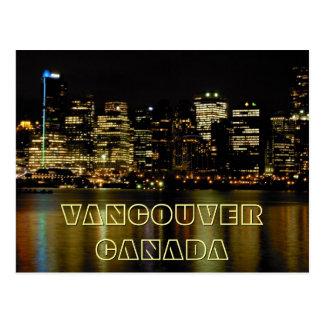 Cartes postales de paysage urbain de Vancouver de