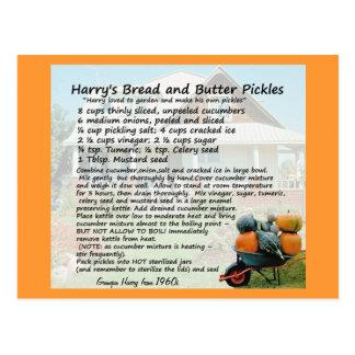 Cartes postales de recette de conserves au