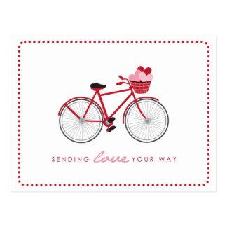 Cartes postales de Valentine de bicyclette - avec