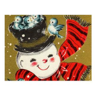Cartes postales du bonhomme de neige |