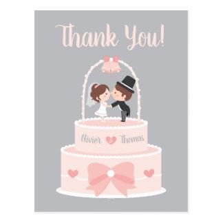 Cartes postales épatantes de Merci de mariage de