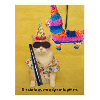 Cartes postales espagnoles d'animal familier drôle