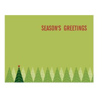 Cartes postales modernes de vacances d'arbres