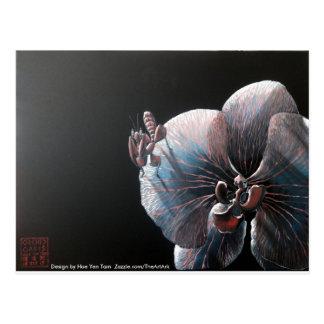 Cartes postales - orchidée et mante