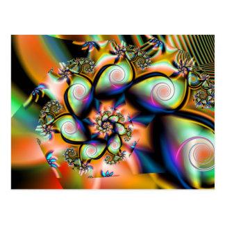 Cartes postales tropicales d'art de fractale de