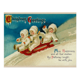 Cartes postales victoriennes de Noël