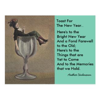 Cartes postales vintages de gallon de vin du pain