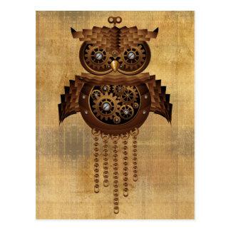 Cartes postales vintages de style de hibou de Stea