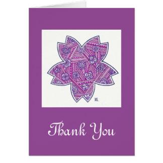 Cartes pour notes de Merci
