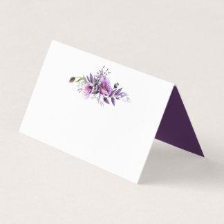 Carte De Placement Cartes pourpres violettes d'endroit de fleurs