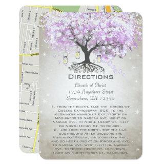 Cartes rayonnantes de direction de mariage de carton d'invitation 8,89 cm x 12,70 cm
