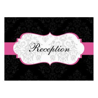 cartes roses de réception de mariage damassé carte de visite